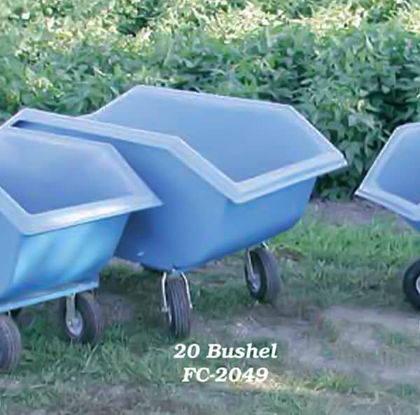 20 Bushel Feed Cart W 10 Wheels Polydome
